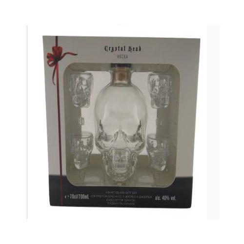 Cristal Head Wodka con Bicchieri